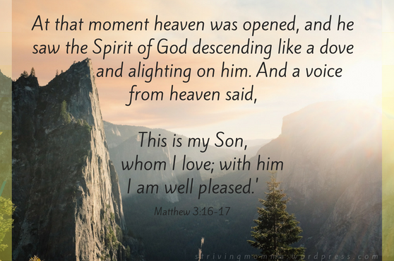 at-that-moment-heaven-was-opened-and-he-saw-the-spirit-of-god-descending-like-a-dove-and-alighting-on-him-and-a-voice-from-heaven-said-this-is-my-son-whom-i-love-with-him-i-am-well-pleased-god-talking-to-jesus