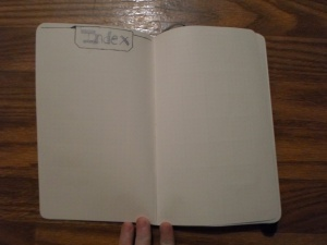 Index page in bullet journal